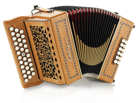 Castagnari - Benny - Melodeon / diatonic Accordion, 3 row, 2 voice, 12 bass