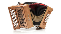 Castagnari - Benny Big 18 - 3 row -2 voice - Melodeon / diatonic accordion - cherry - squeezeboxes.co.uk