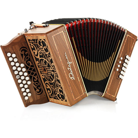 Castagnari - Mory - Melodeon / Diatonic Accordion - 2.5 row, 3 voice, 26 button, 12 bass - Squeezeboxes
