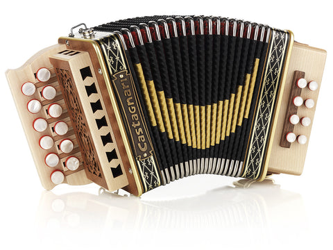 Castagnari - Giordy - Melodeon / Diatonic Accordion - 2 row, 12 button, 8 bass, 1 voice, 1 kg - Squeezeboxes