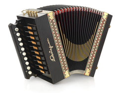 "Castagnari - Max / ""Melodeon"" - Melodeon / Diatonic Accordion - 1 row, 10 button, 2 bass, 4 voice - Squeezeboxes"