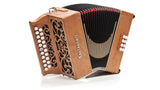 Castagnari - Studio - 2 row - 2 voice - 8 bass - diatonic accordion -  cherry