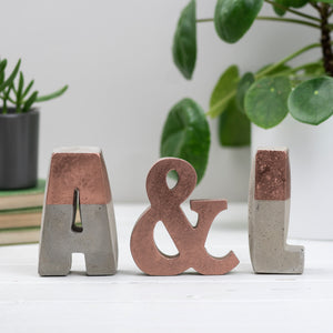 Large Copper stripe Letter Set
