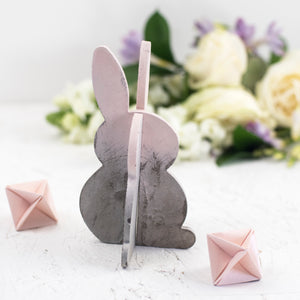 Concrete Colour Block 3D Easter Bunny