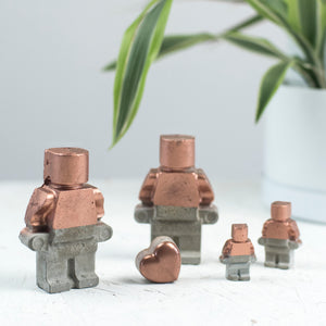 Half Copper Concrete Family Gift Set