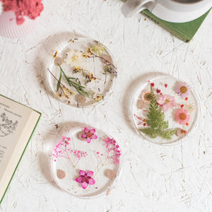 Wild Flower And Resin Coasters