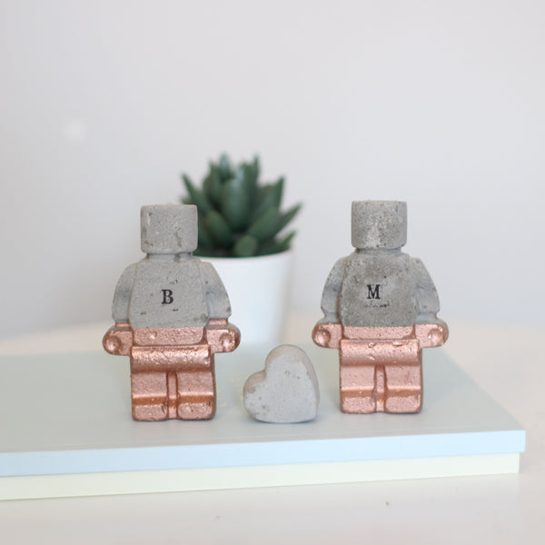 Personalised Concrete Couple and Heart