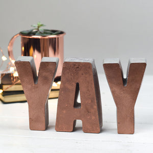 Large Copper Front Letters