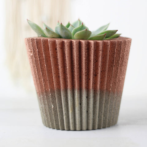Copper Crinkle Planter