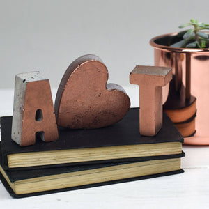 Small Copper Front Letter Set