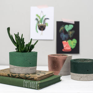 Green Concrete Planter