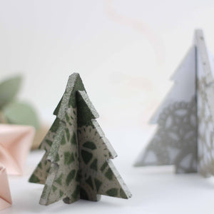 3D Lace Effect Concrete Christmas Tree