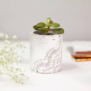 Lace effect Concrete Planter