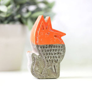 Fox and Bear Concrete Book Ends