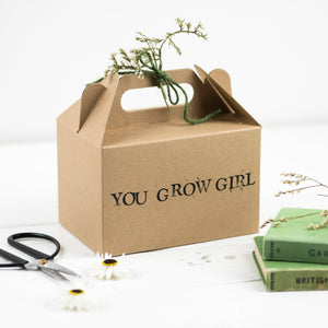 You Grow Girl Gift Box With Dried Flowers And Twine - Gift Box