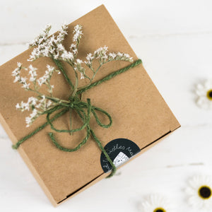 Gift Box With Dried Flowers And Twine - Gift Box
