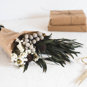 Personalised Dried Flowers - Christmas Flowers - Winter Dried Flowers - Dried Flowers Bouquet - Dried Flowers