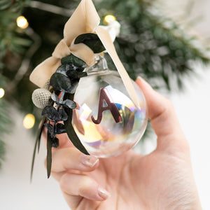 Personalised Dried Flower Christmas Bauble - Christmas Decoration - Tree Decoration - Tree Bauble