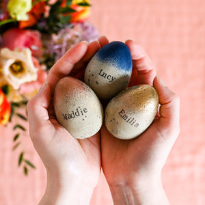 personalised Concrete Name Easter Eggs