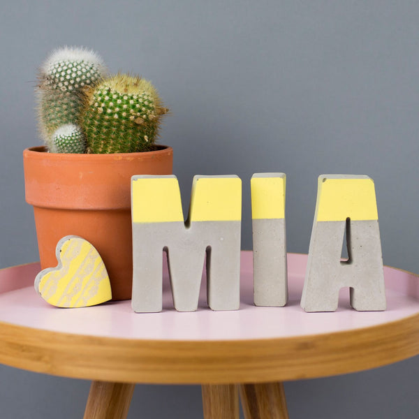 Concrete Colour Dipped Letters