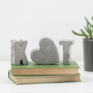 Small Concrete Letter Set