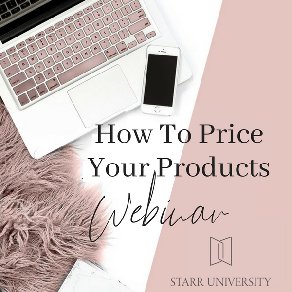 How To Price Your Products Webinar