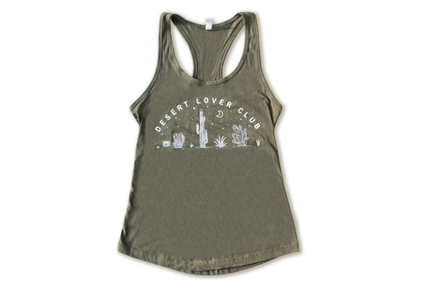 Desert Lover Club Women's Racerback Tank | Military Green