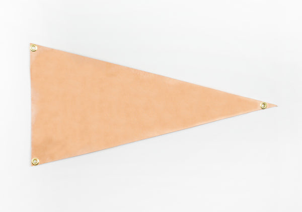 Custom Leather Pennant Flag