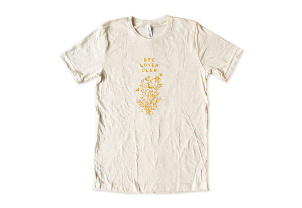 Bee Lover Club Unisex Tee | Natural White