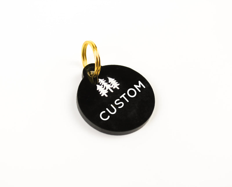 FULL CUSTOM Color-Filled Acrylic Pet Tag