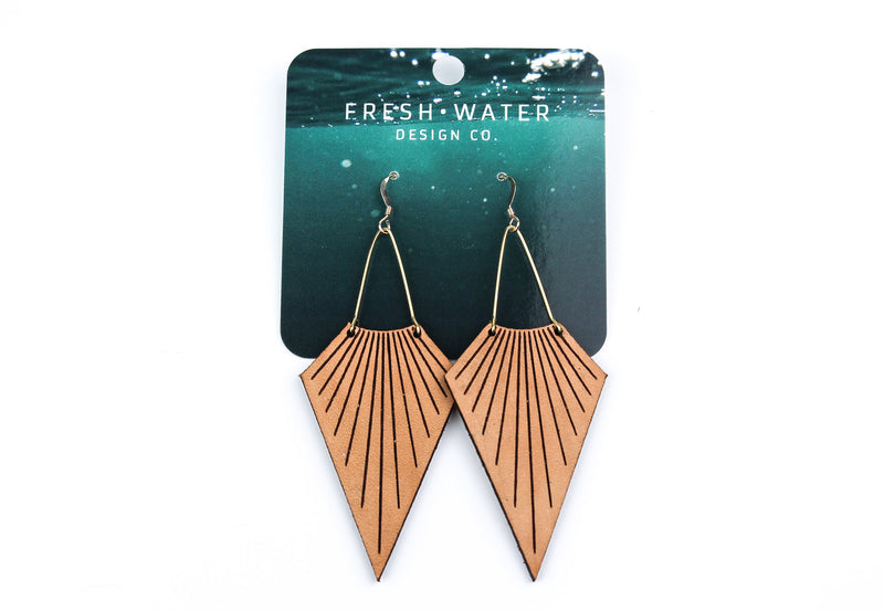 """Seashell"" Leather Earrings"