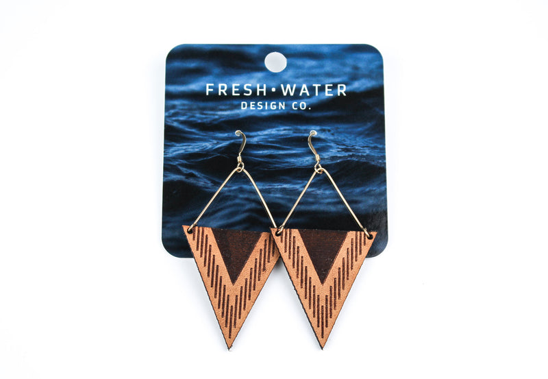 """Triangle"" Leather Earrings"