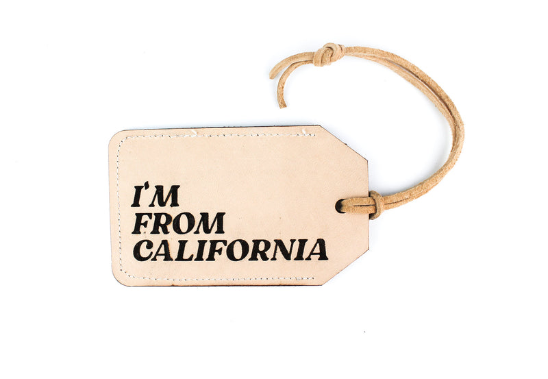 I'M FROM... CUSTOM Leather Luggage Tag
