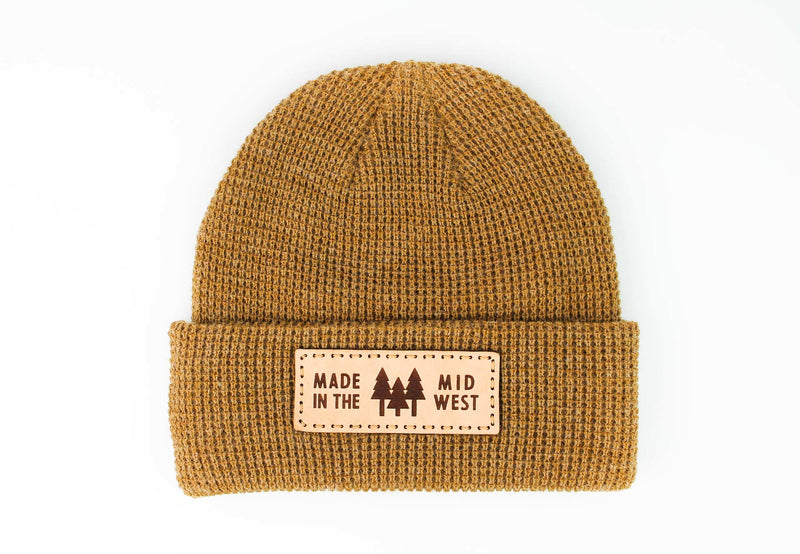 MADE IN THE MID WEST Waffle Knit Beanie