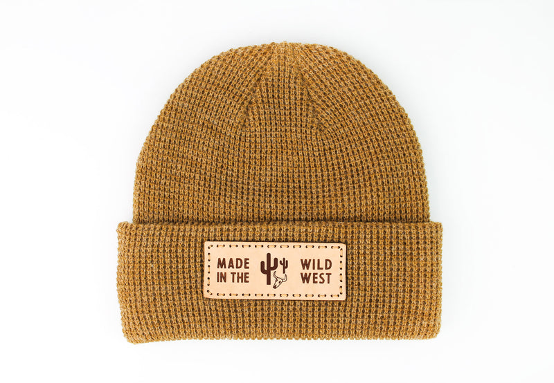 MADE IN THE WILD WEST Waffle Knit Beanie