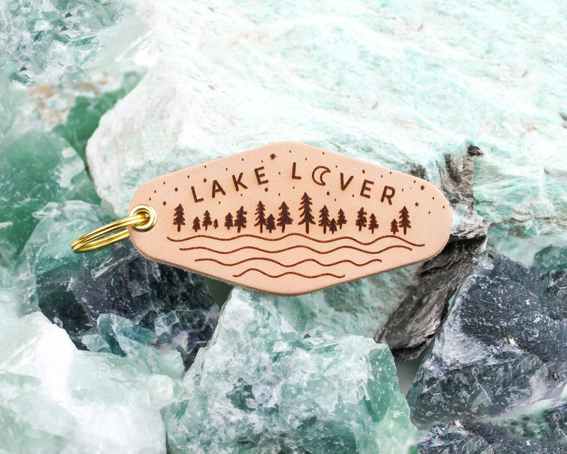 LAKE LOVER Leather & Velvet Keychain