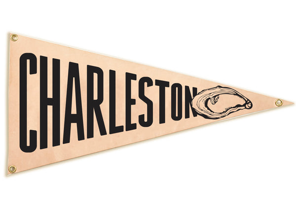 """Charleston"" Leather Pennant Flag"