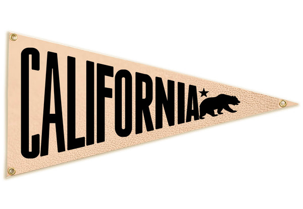 """California"" Leather Pennant Flag"