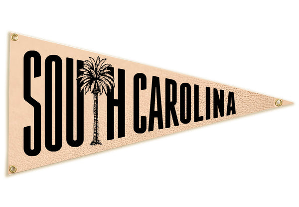 """South Carolina"" Leather Pennant Flag"