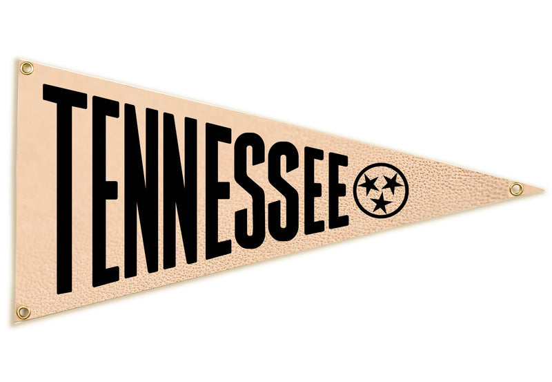 """Tennessee"" Leather Pennant Flag"