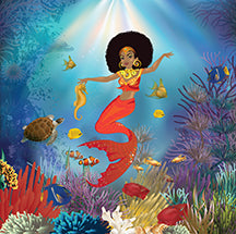 Afro mermaid