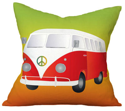 Volkswagen  Hippie chic Pillow