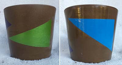 Abstract Plant Pot