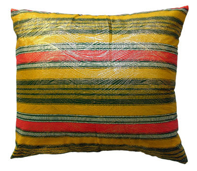 Gold Striped Accent Pillow