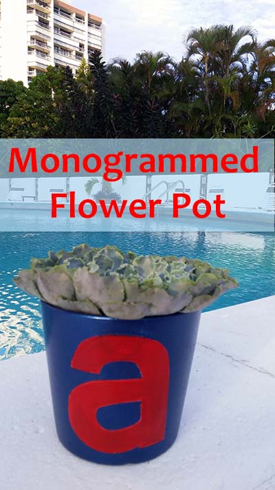 Monogrammed/Personalized Plant Pot