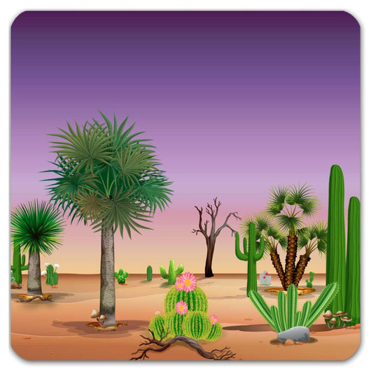 My Cacti Landscape (Purple sky) Coasters
