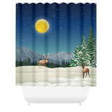 Winter Night Shower Curtains