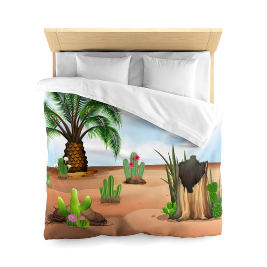 Palm and Succulent Microfiber Duvet Cover