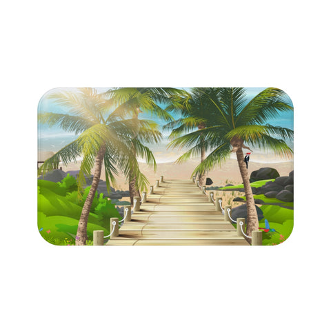 Path To the Beach Bath Mat
