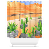 Fantasy Xeriscape Shower Curtain